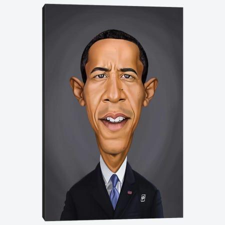Barack Obama Canvas Print #RSW342} by Rob Snow Canvas Artwork