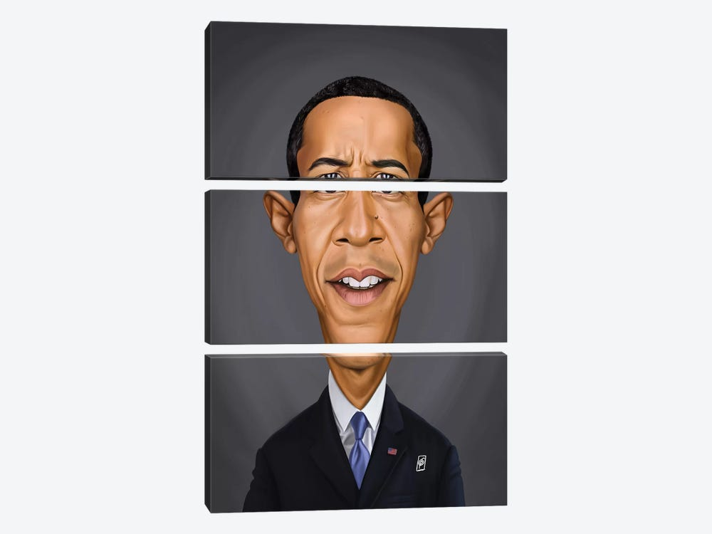 Barack Obama by Rob Snow 3-piece Canvas Print