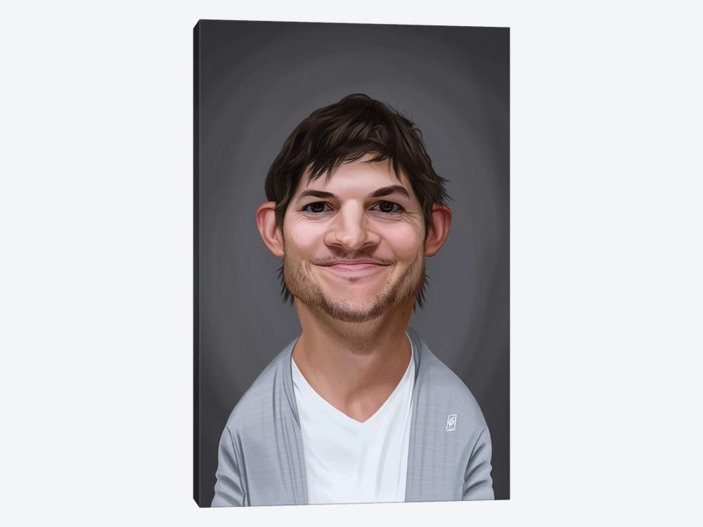 Ashton Kutcher by Rob Snow 1-piece Canvas Art