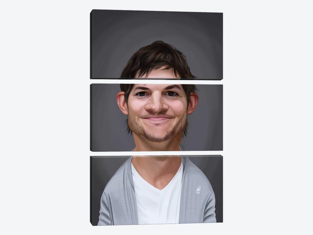 Ashton Kutcher by Rob Snow 3-piece Canvas Wall Art