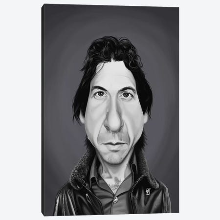 Leonard Cohen Canvas Print #RSW351} by Rob Snow Canvas Art Print