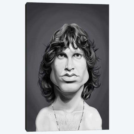 Jim Morrison Canvas Print #RSW358} by Rob Snow Art Print