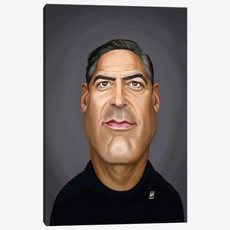 George Clooney Canvas Print #RSW359} by Rob Snow Canvas Print