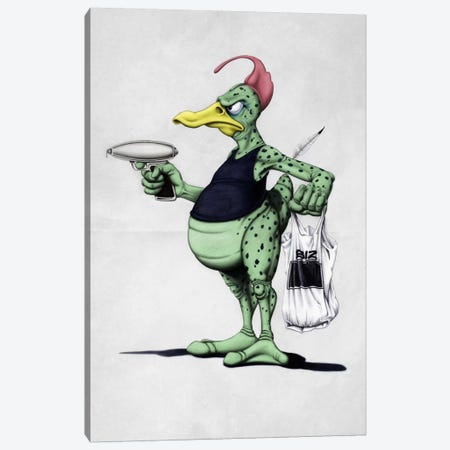 Space Duck Canvas Print #RSW35} by Rob Snow Art Print