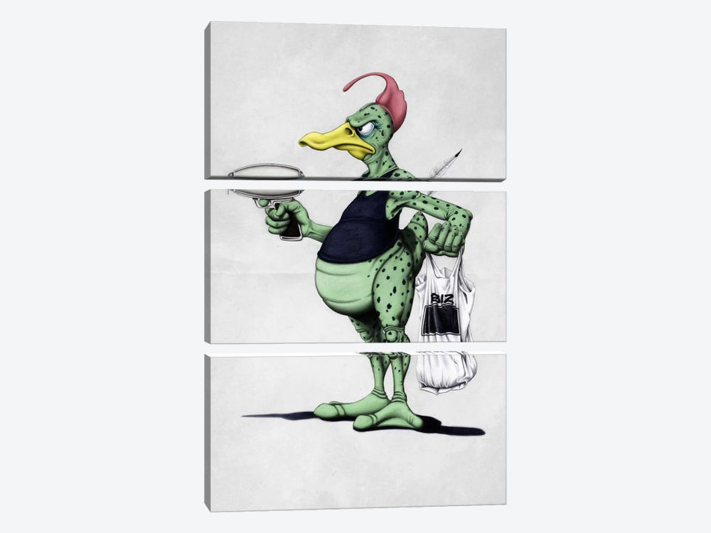 Space Duck by Rob Snow 3-piece Art Print