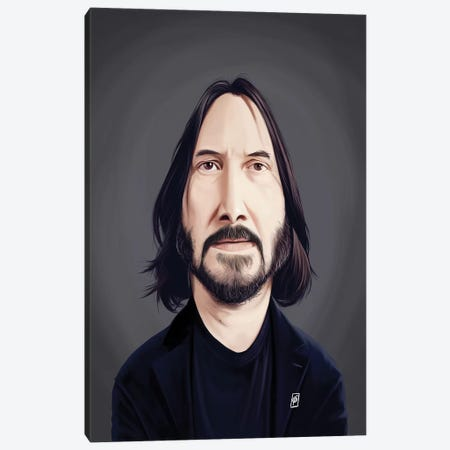 Keanu Reeves Canvas Print #RSW361} by Rob Snow Canvas Artwork
