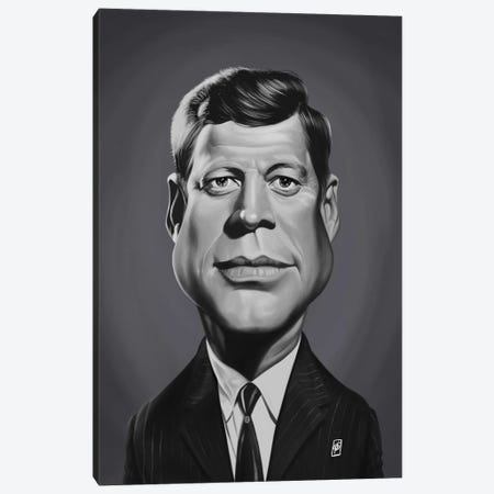 John F Kennedy Canvas Print #RSW369} by Rob Snow Canvas Wall Art