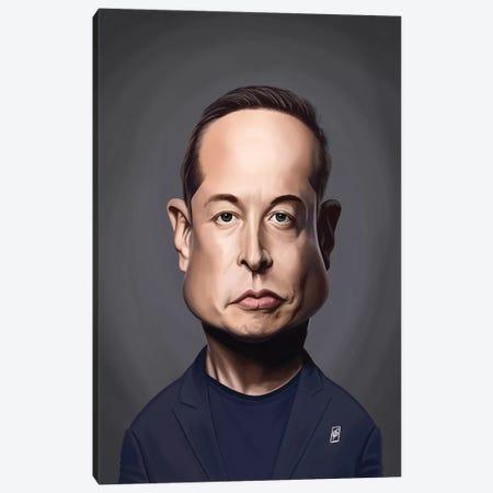 Elon Musk Canvas Print #RSW371} by Rob Snow Art Print