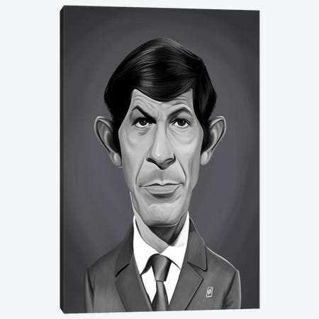 Leonard Nimoy Canvas Print #RSW374} by Rob Snow Canvas Artwork