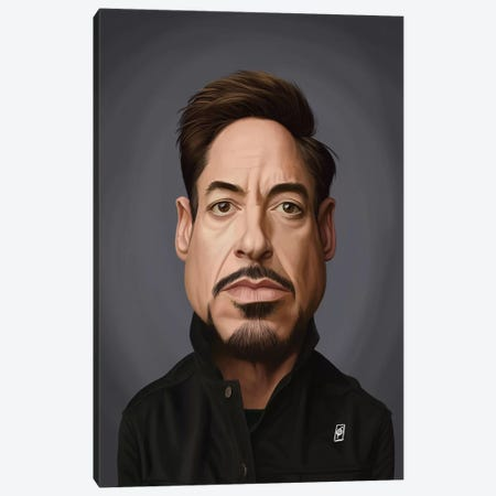 Robert Downey Jr Canvas Print #RSW375} by Rob Snow Canvas Wall Art