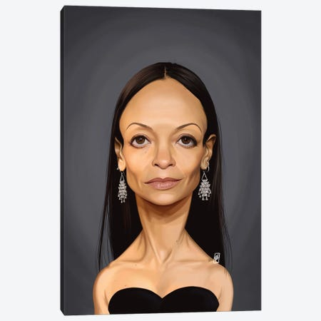 Thandie Newton 3-Piece Canvas #RSW376} by Rob Snow Canvas Art