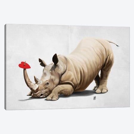 Horny (Wordless) Canvas Print #RSW379} by Rob Snow Art Print