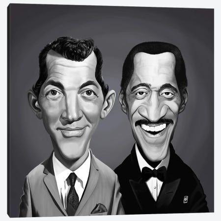 Dean Martin and Sammy Davis Jnr Canvas Print #RSW386} by Rob Snow Art Print