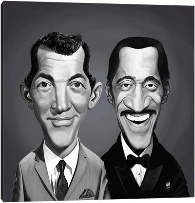 Dean Martin and Sammy Davis Jnr Canvas Art Print