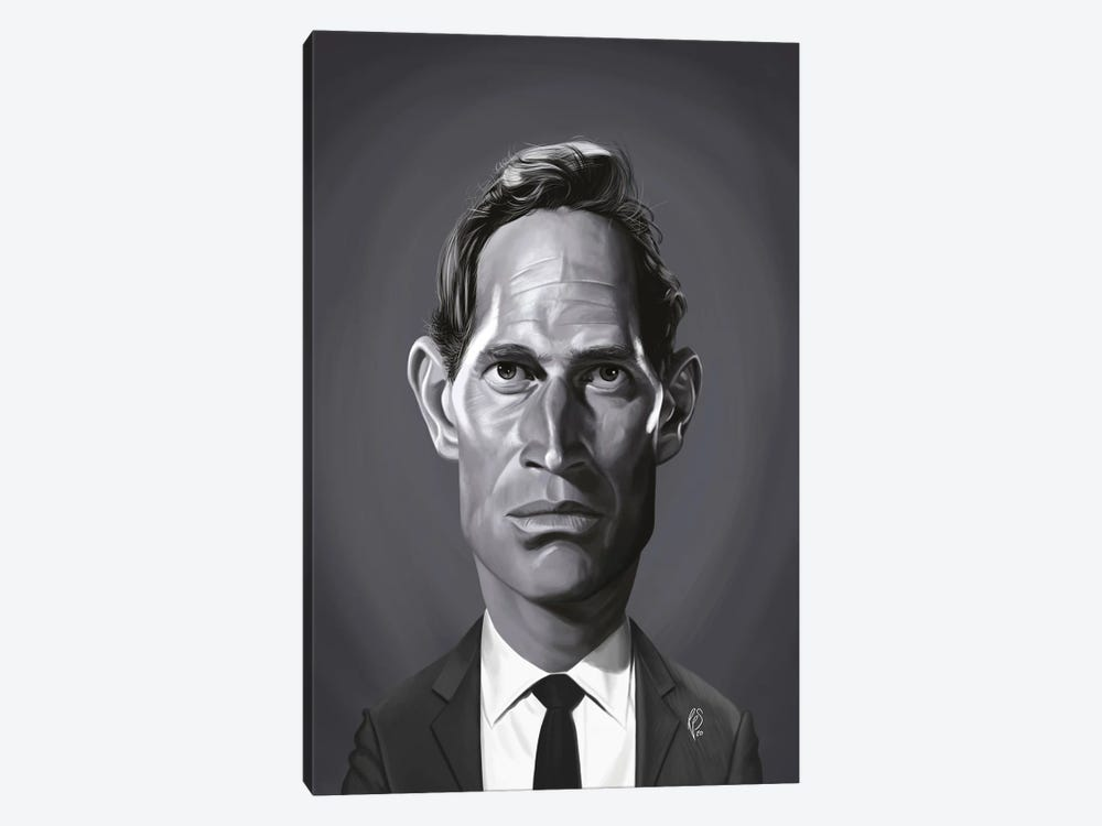 Charlton Heston by Rob Snow 1-piece Canvas Art Print