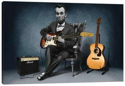 Abraham Lincoln - The Rushmores Riff Canvas Art Print