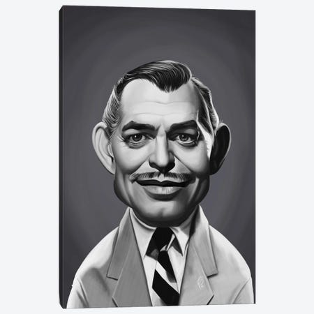 Clark Gable Canvas Print #RSW396} by Rob Snow Canvas Art