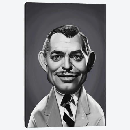 Clark Gable Canvas Print #RSW396} by Rob Snow Canvas Art