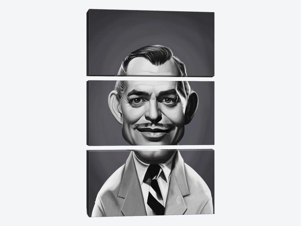 Clark Gable by Rob Snow 3-piece Canvas Art