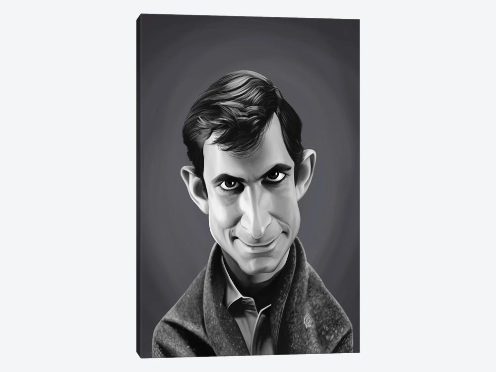 Anthony Perkins by Rob Snow 1-piece Canvas Print
