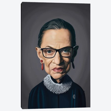 Ruth Bader Ginsburg - RBG Canvas Print #RSW399} by Rob Snow Art Print