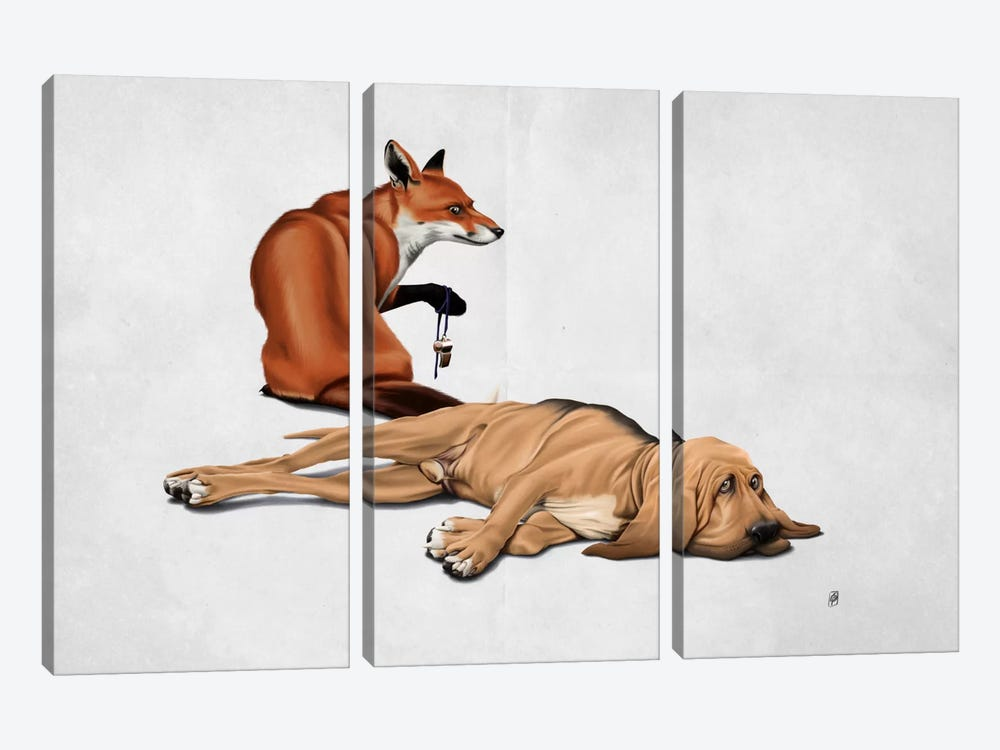 Not So III by Rob Snow 3-piece Canvas Art