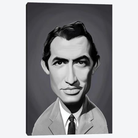 Gregory Peck Canvas Print #RSW400} by Rob Snow Canvas Print