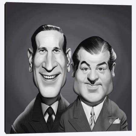 Abbott and Costello Canvas Print #RSW404} by Rob Snow Canvas Wall Art