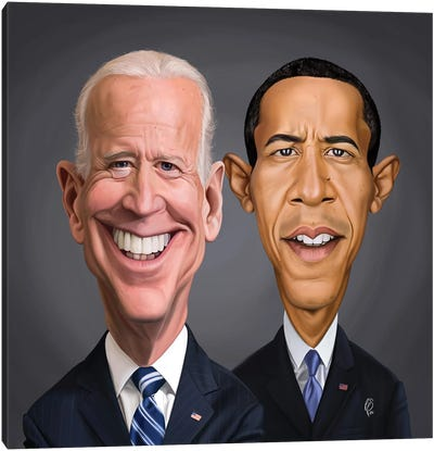 Biden And Barack Canvas Art Print