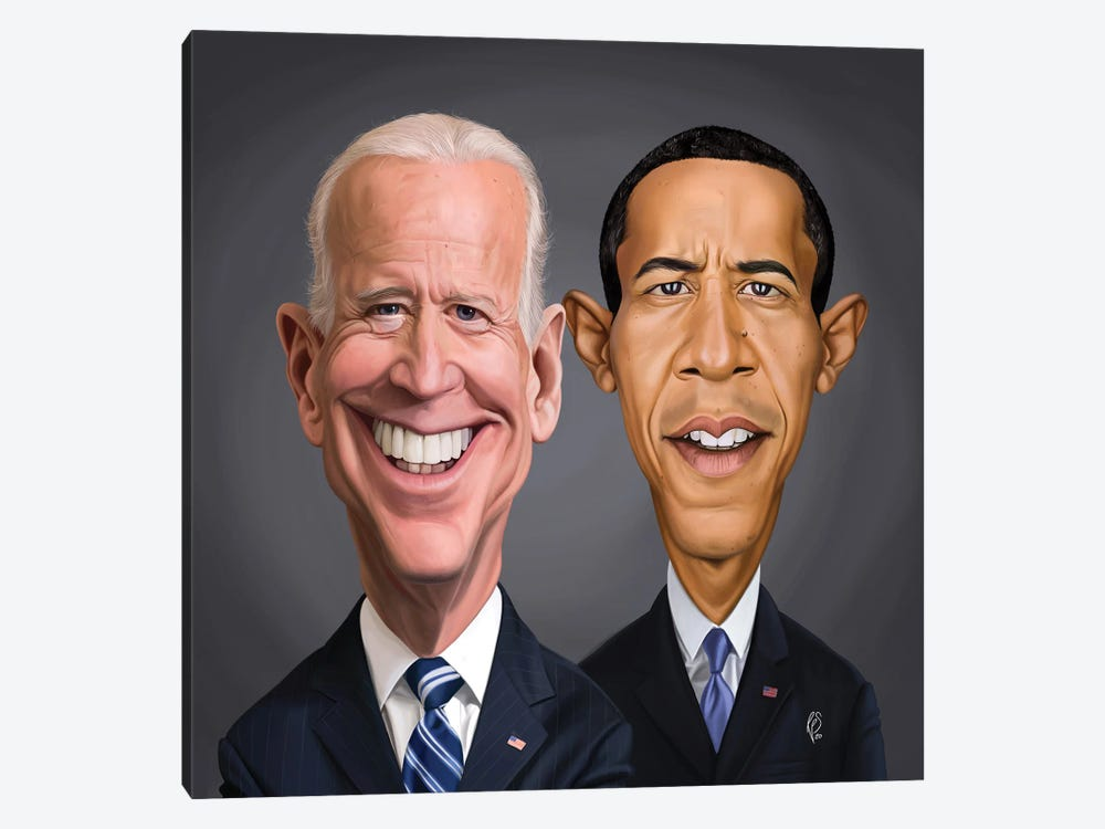 Biden And Barack by Rob Snow 1-piece Canvas Art Print