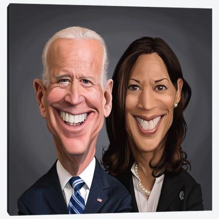 Joe Biden and Kamala Harris Canvas Print #RSW408} by Rob Snow Art Print