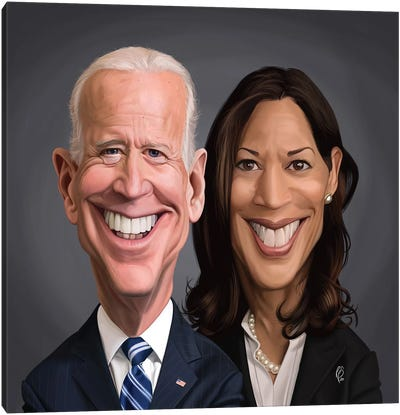 Joe Biden and Kamala Harris Canvas Art Print