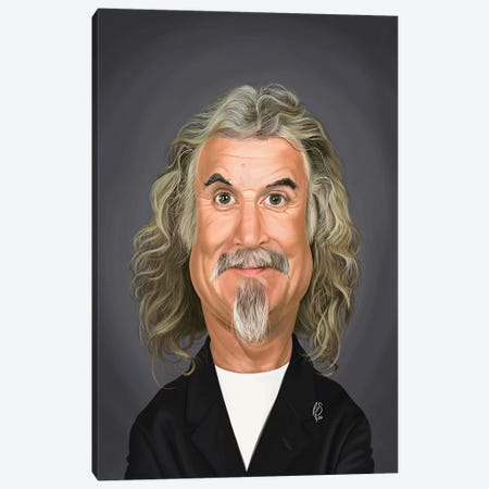 Billy Connolly Canvas Print #RSW413} by Rob Snow Canvas Wall Art