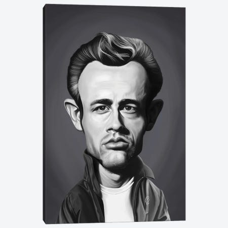 James Dean Canvas Print #RSW421} by Rob Snow Canvas Art Print