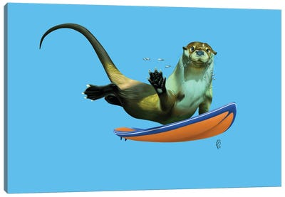 Otterly (Colour) Canvas Art Print