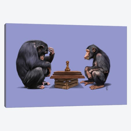 The Pawns (Color) Canvas Print #RSW438} by Rob Snow Canvas Wall Art