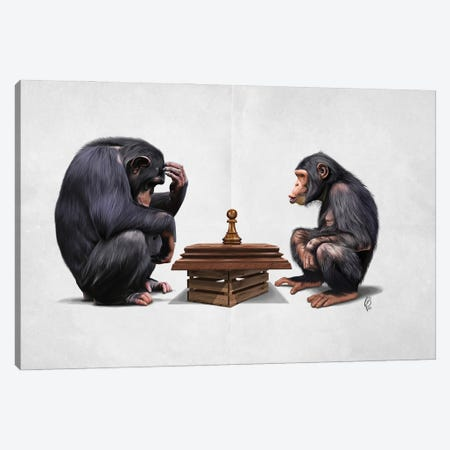 The Pawns (Plain) Canvas Print #RSW440} by Rob Snow Canvas Print