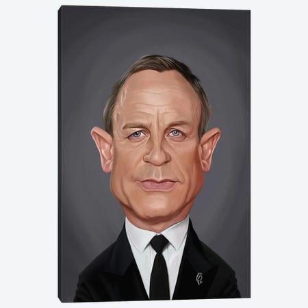 Daniel Craig Canvas Print #RSW448} by Rob Snow Canvas Print