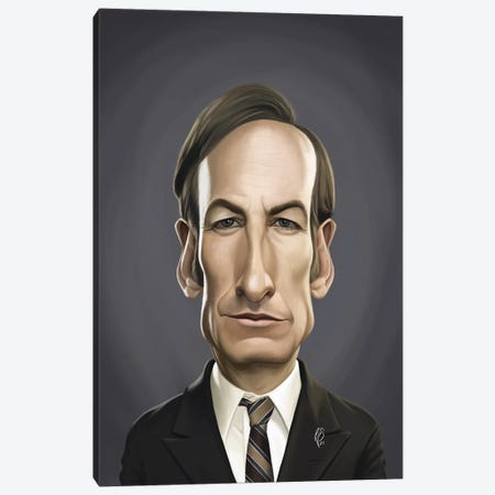 Bob Odenkirk Canvas Print #RSW452} by Rob Snow Canvas Artwork
