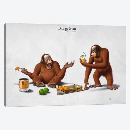 Orange Man I Canvas Print #RSW4} by Rob Snow Canvas Print