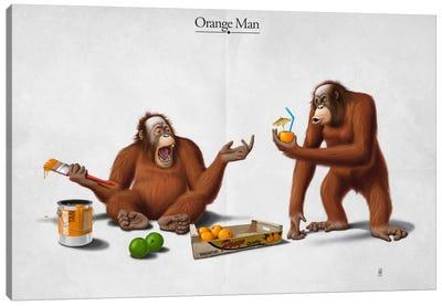 Orange Man I Canvas Art Print