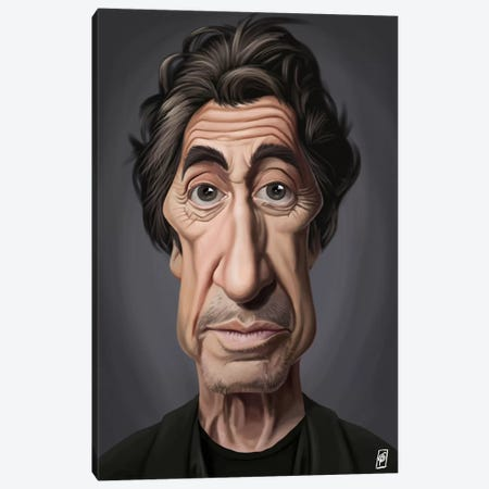 Celebrity Sunday Series: Al Pacino I Canvas Print #RSW58} by Rob Snow Canvas Art