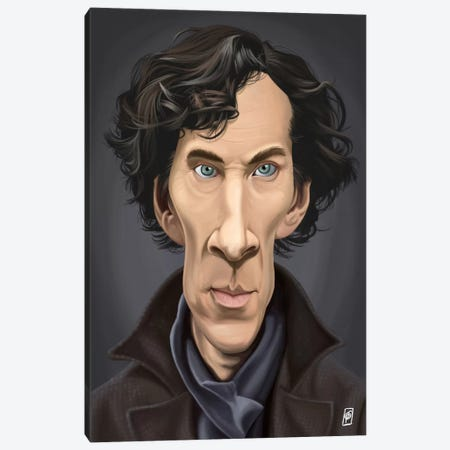 Benedict Cumberbatch I Canvas Print #RSW59} by Rob Snow Canvas Art