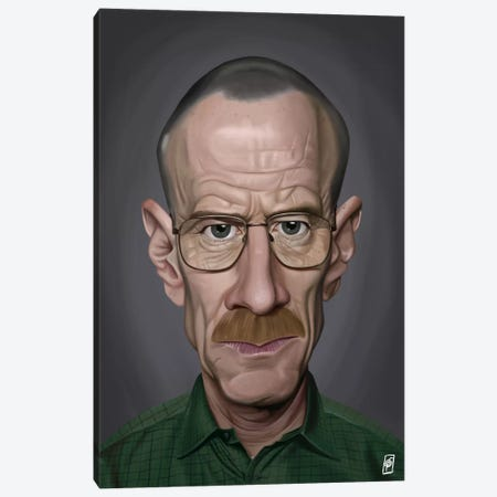 Bryan Cranston I Canvas Print #RSW64} by Rob Snow Canvas Wall Art