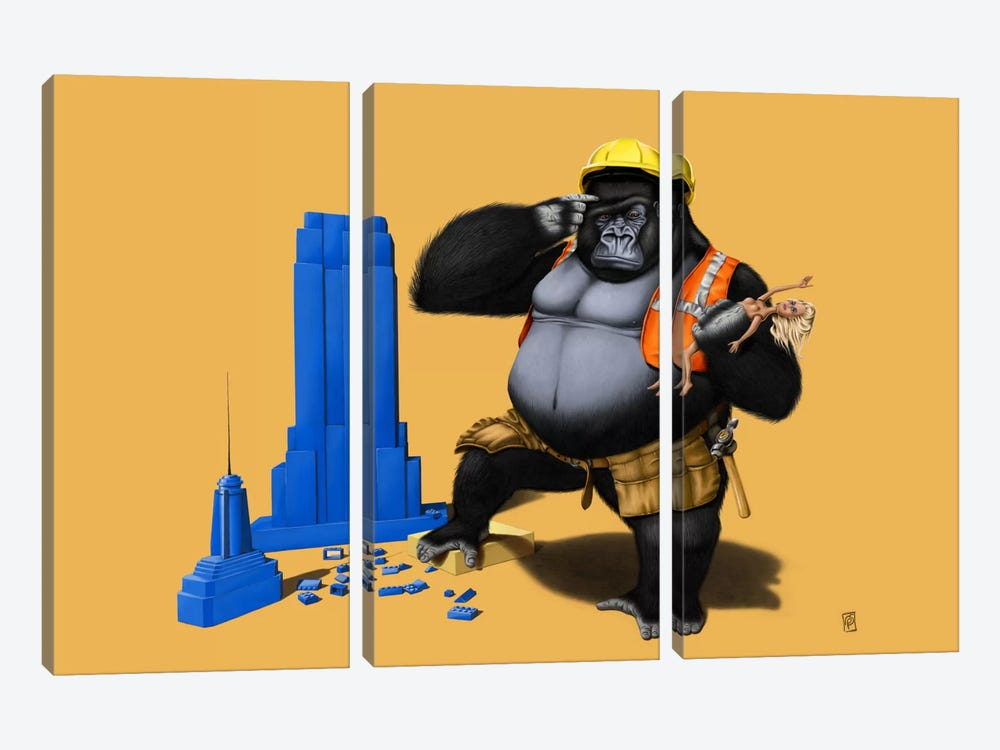 Building An Empire III by Rob Snow 3-piece Canvas Print
