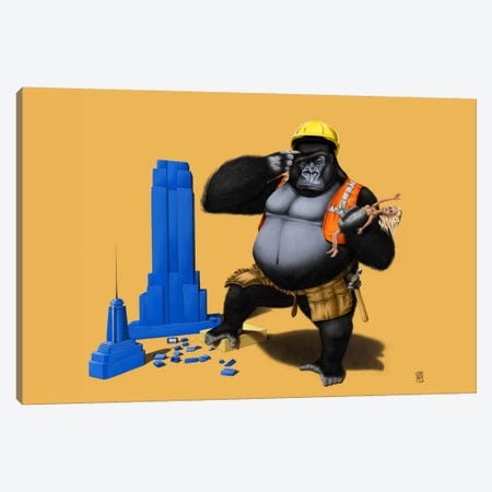 Building An Empire III Canvas Print #RSW66} by Rob Snow Canvas Artwork