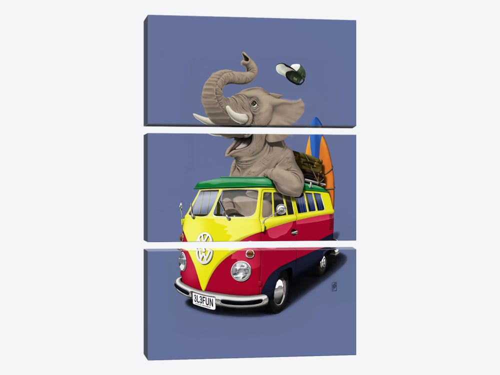 Pack-the-trunk III by Rob Snow 3-piece Art Print