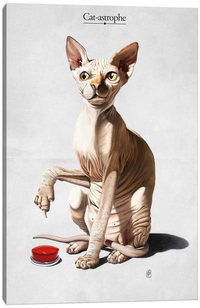 Cat-astrophe Canvas Art Print