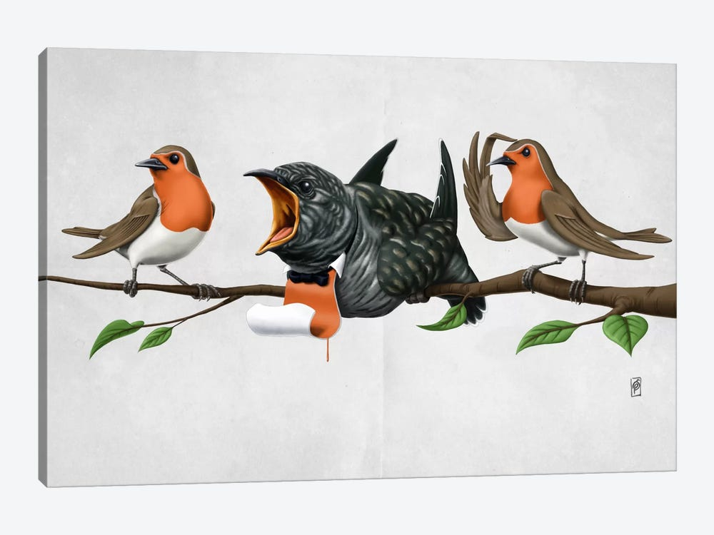 Cock Robin II by Rob Snow 1-piece Canvas Art