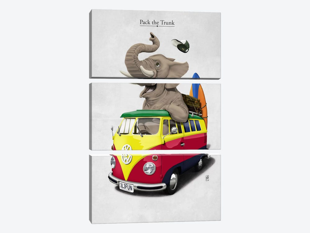 Pack-the-trunk I by Rob Snow 3-piece Canvas Wall Art